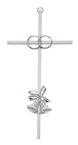 Silver 25th Wedding Anniversary Cross
