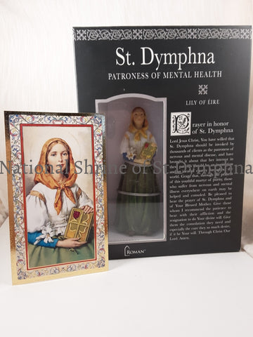 3-1/2 Resin St. Dymphna Statue Statues Pictures And Plaques