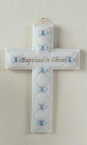 Baptismal Wall Cross - Boy