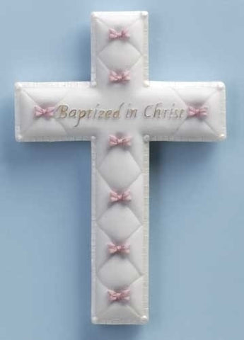 Baptismal Wall Cross - Girl