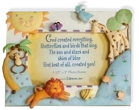 """God Created Everything"" Picture Frame"