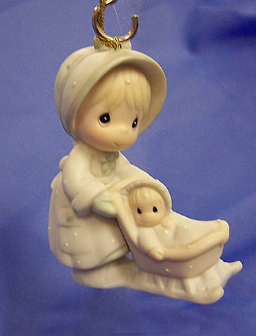 "Precious Moments ""Dashing Through The Snow"" Ornament"