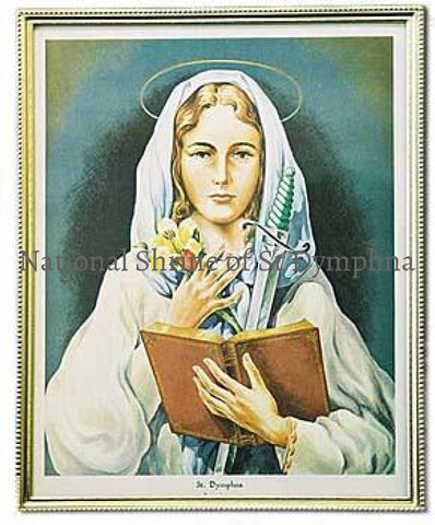 8X10 Color Print Of St. Dymphna Statues Pictures And Plaques