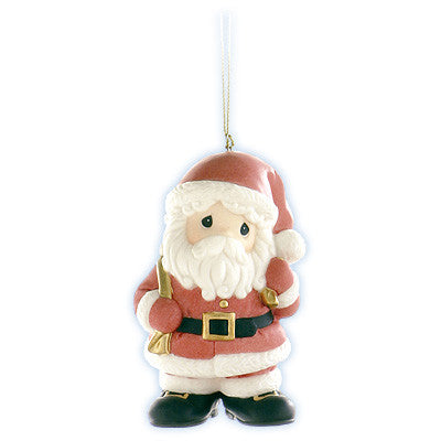 "Precious Moments ""Believe in the Magic of Christmas"" Santa Ornament"