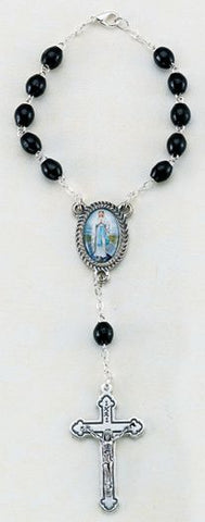 Our Lady of the Highway Black Auto Rosary