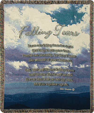 Falling Tears Tapestry Throw