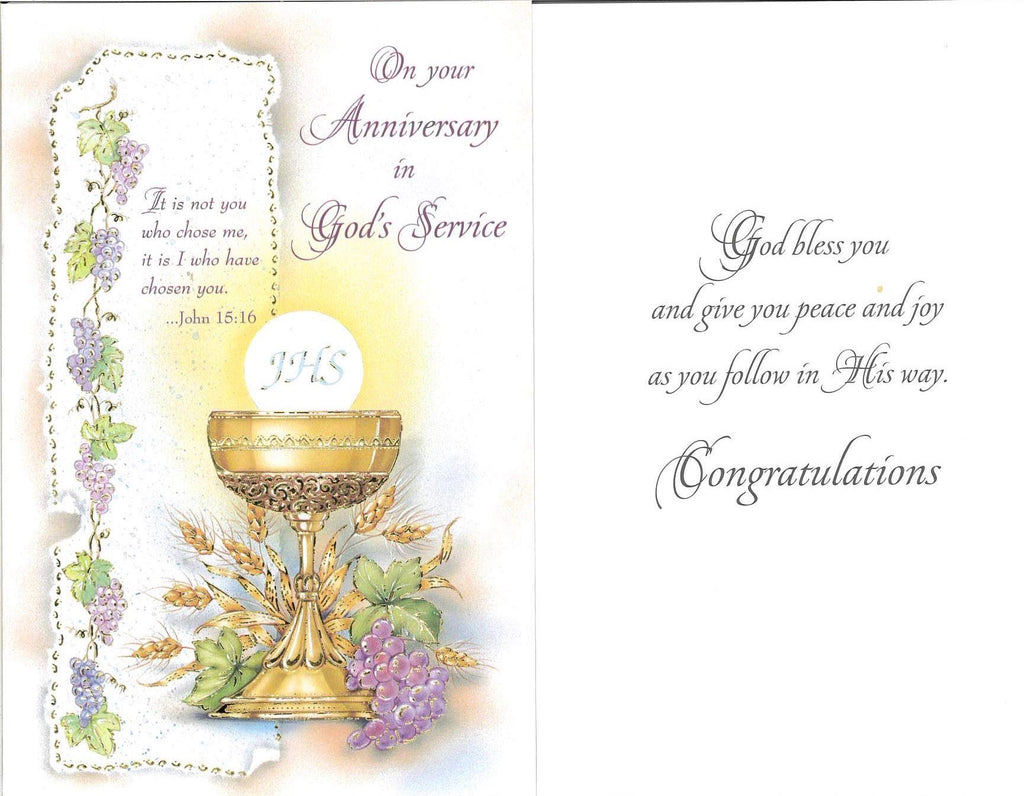 Anniversary in God's Service Card