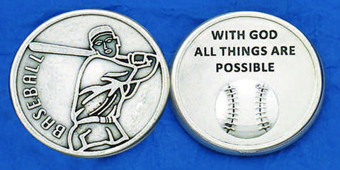 Baseball Sports Pocket Token