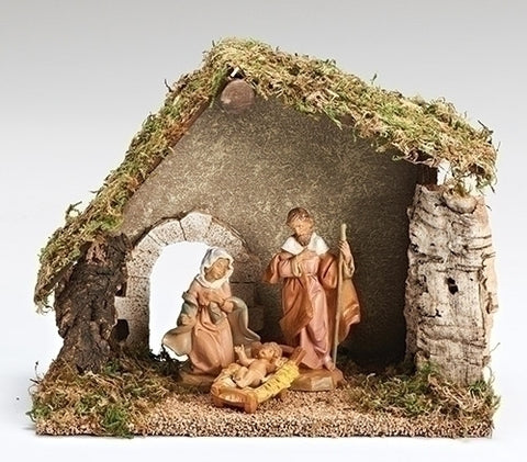 "Fontanini 5"" Starter Nativity Set with Stable"
