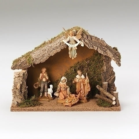 "Fontanini 5 piece 5"" Nativity Set w/Stable"