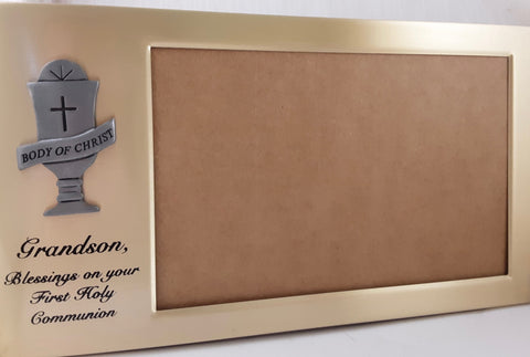 First Communion Picture Frame-Grandson