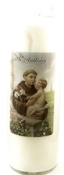 St Anthony Glass Candle
