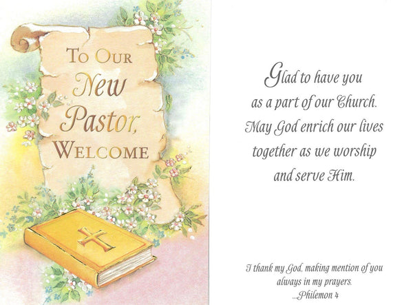 New Pastor Welcome Card – National Shrine of St. Dymphna