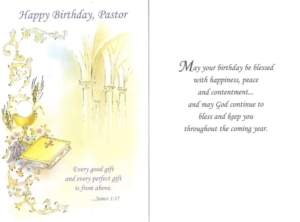 Birthday Card - Pastor