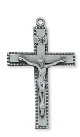 "Pewter Crucifix On 24"" Chain"