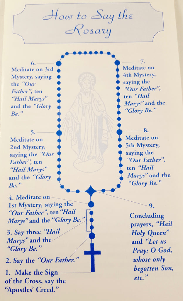 photo about How to Pray the Rosary Printable Booklet titled Bi-fold Rosary Pamphlet