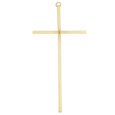 "8"" Goldtone Plain Wall Cross"