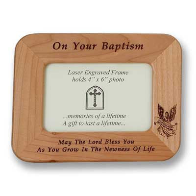 Baptism Maple Frame