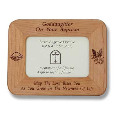 Baptismal Maple Frame - Goddaughter