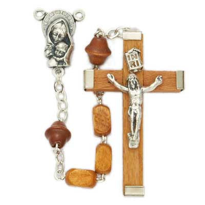 Men's Quality Wood Rosary.