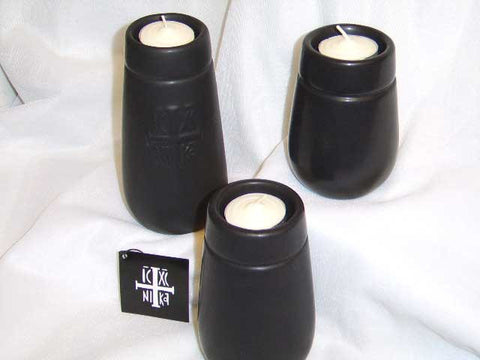 Black Candle Stand Set