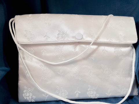 Satin Purse with Shoulder Strap