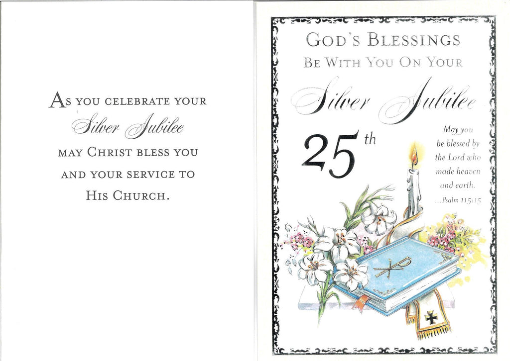 25th Jubilee Card-Priest