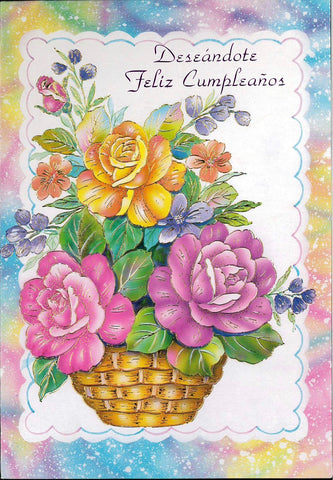 Birthday Card-Pop up-Spanish