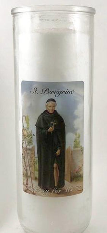 St Peregrine Glass Candle