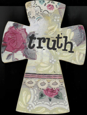 """Truth"" Cross Plaque"