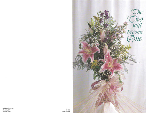 Wedding Bulletin-Stargazer Lilies