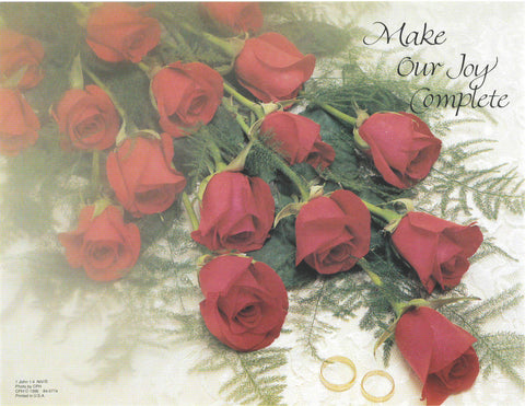 Wedding Bulletin-Red Roses wrap around