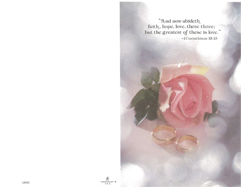 Wedding Bulletin-Pink Rose