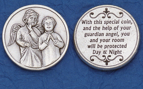 Angel with Boy Praying Pocket Token