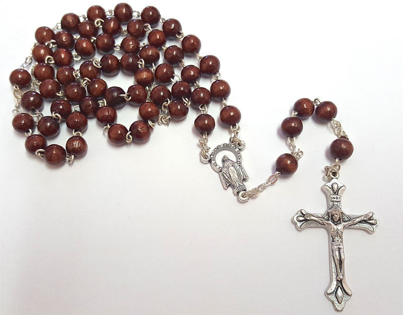 Brown Boxwood Rosary.