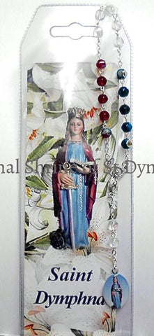 Multi-Color St. Dymphna Chaplet Rosaries Chaplets And Cases