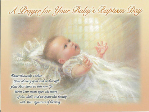 Baby Baptism Card