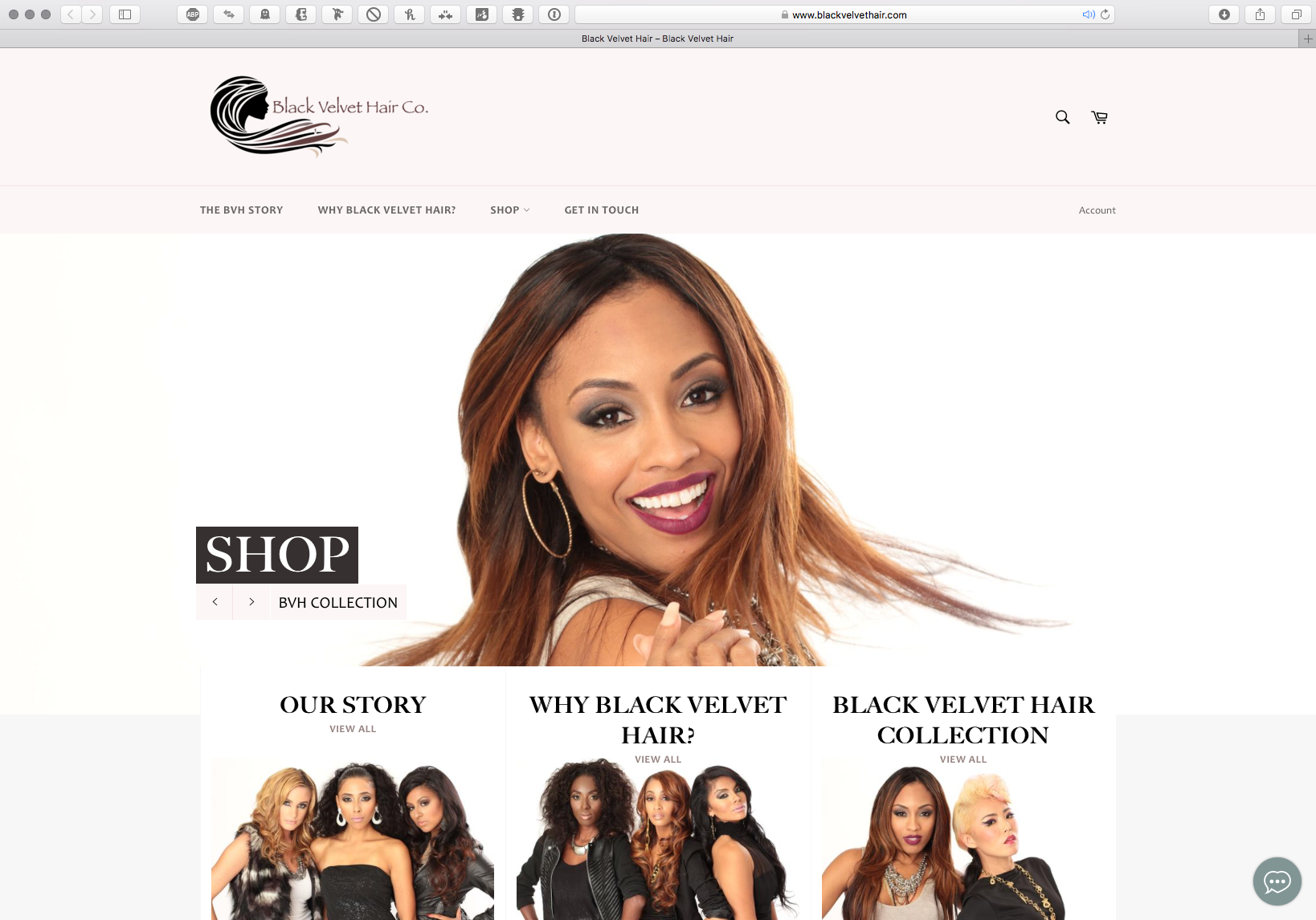 Black Velvet Hair Website