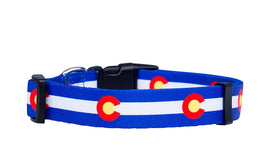 Colorado State Flag Dog Collar