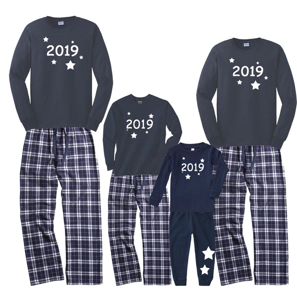 GLOW-IN-THE-DARK New Year's Eve 2019 Matching Family Pajamas