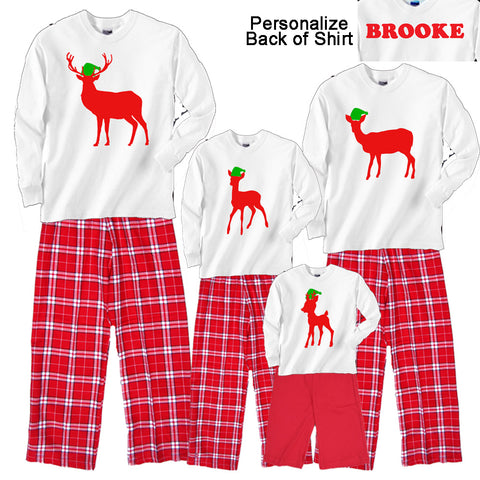 78b3e0e2 Holiday DEER FAMILY Matching Christmas Pajamas for Adults & Playwear Outfits  for Kids