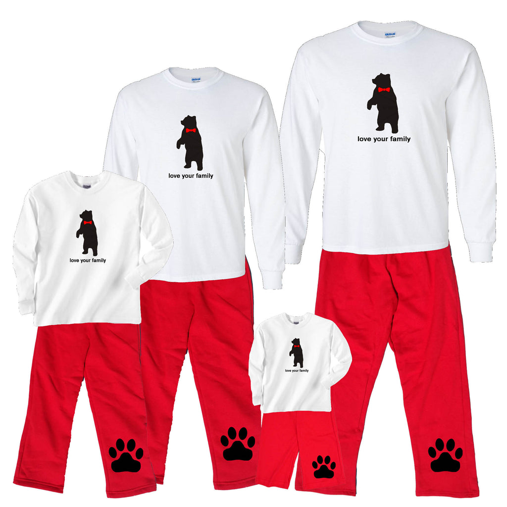 Personalized Holiday Bear Matching Family Christmas Outfits ...