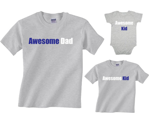 Awesome Dad & Awesome Kid Father & Son Matching T-Shirts