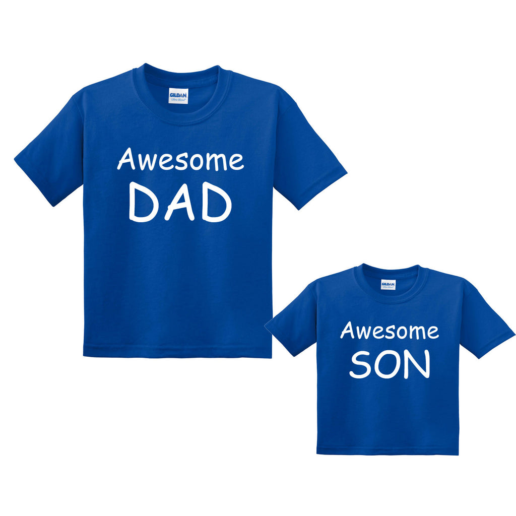Awesome Dad & Awesome Son Matching T-Shirts