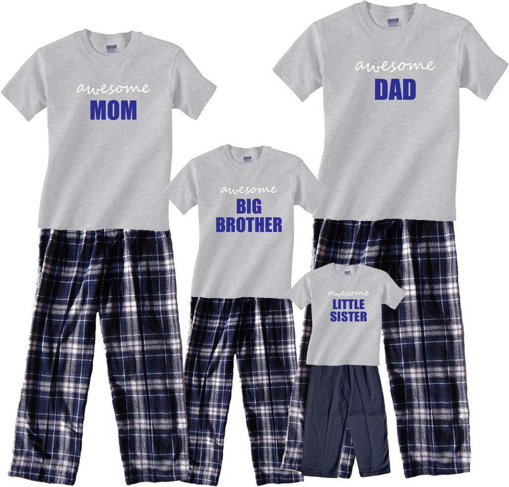 Personalized AWESOME Family Pant Sets