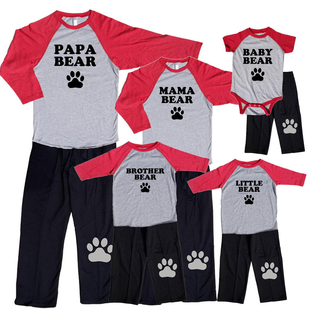 Fun Baseball Bear Family Matching Outfits - Mama, Papa, Baby, More