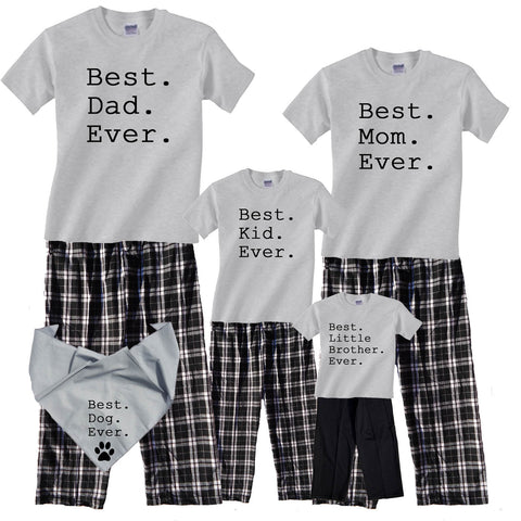 "Best. ""YOUR TEXT"". Ever. Matching Pant sets - Personalize for your whole family!"
