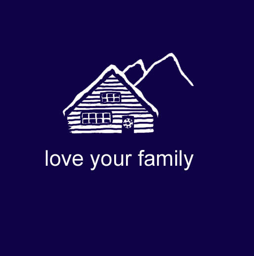 Love Your Family Cabin Retreat Family Matching Sets in Navy