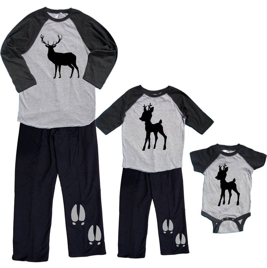BUCK & FAWN Deer Matching Outfits for Dad and Kids