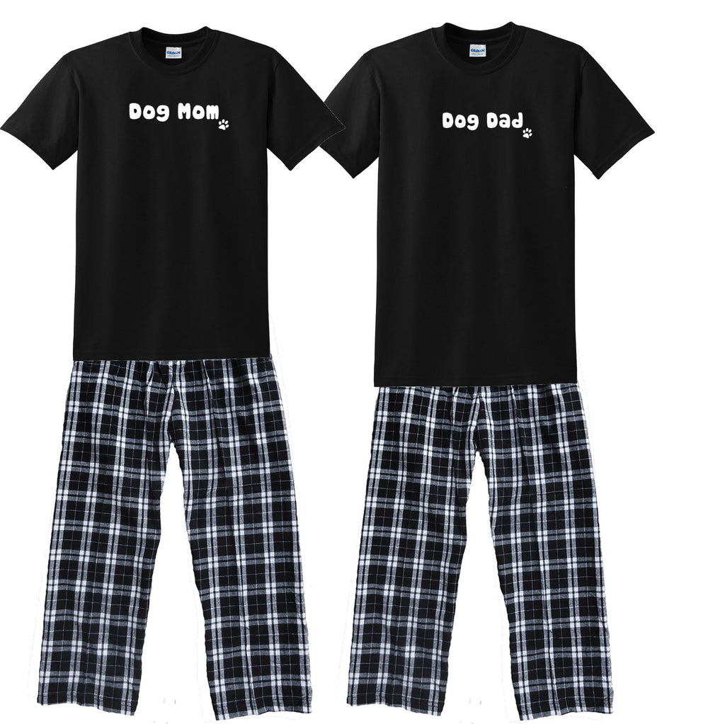 Dog Mom & Dog Dad Matching Couples Pajamas